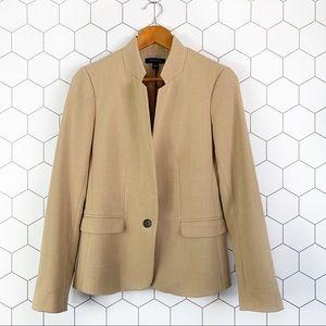 Ann Taylor tan structured blazer